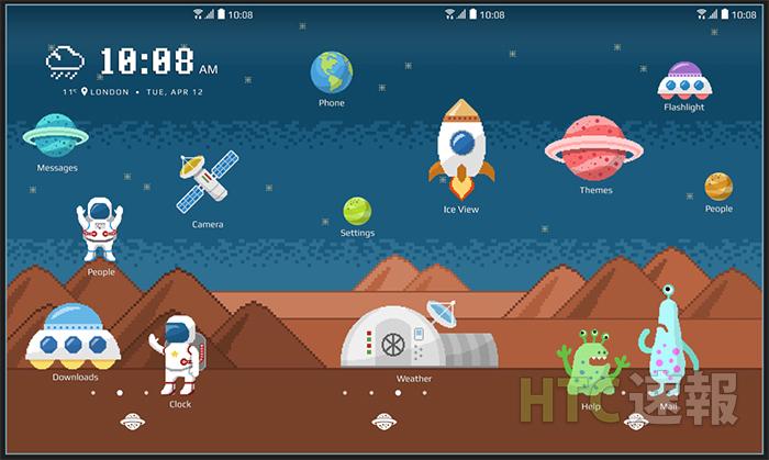HTC Sense Home / フリースタイルレイアウト